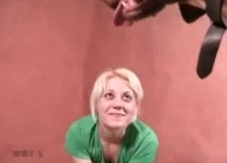 Blonde fucking a puppy