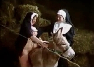 Nuns are fucking in the barn