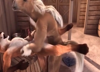 Fox sucking horses cock